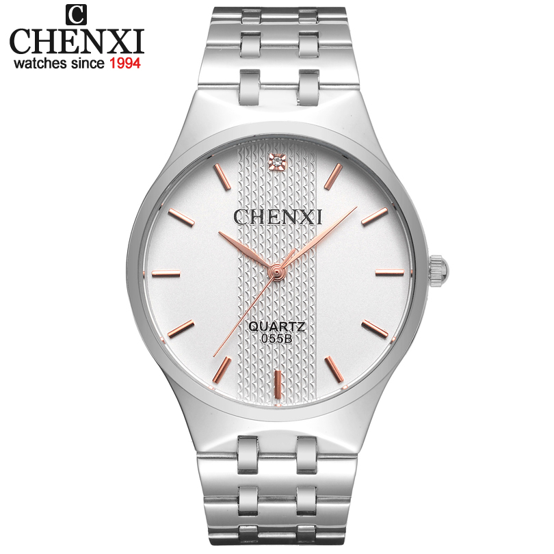 CHENXI Rose gold Timescale Luxury Brand watches Men's Quartz Watch relojes Full Steel Band Analog Casual Men Women watch male
