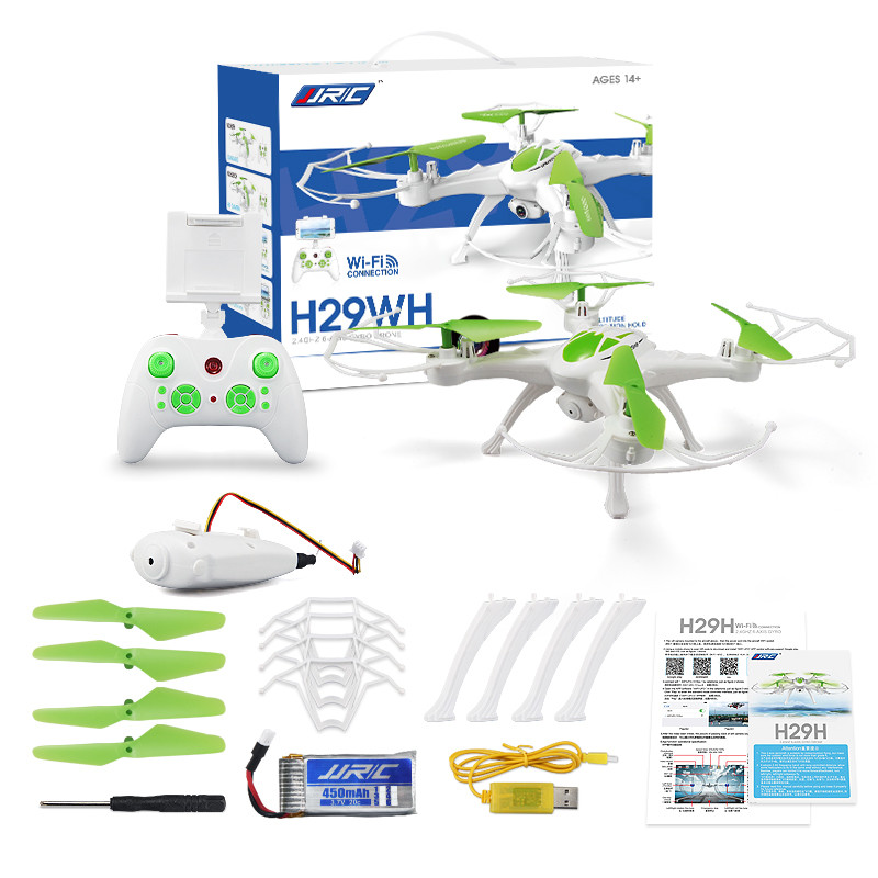 JJRC H29WH Mini Drone RC Quadcopter 2.4G 4CH 6-Axis Gyro With 0.4MP WIFI Camera Drone with camera RC toys Green Helicopter mini rc drone jjrc h30ch 2 4ghz 4ch 6 axis gyro quadcopter headless mode drone flying helicopter with 2 0mp hd camera gifts zk40