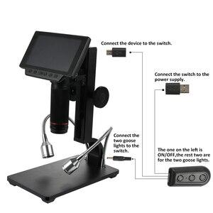 Image 3 - Andonstar ADSM302 Professional ดิจิตอลอุตสาหกรรมอิเล็กทรอนิกส์ชีวภาพกล้องจุลทรรศน์แว่นขยายรีโมทคอนโทรล