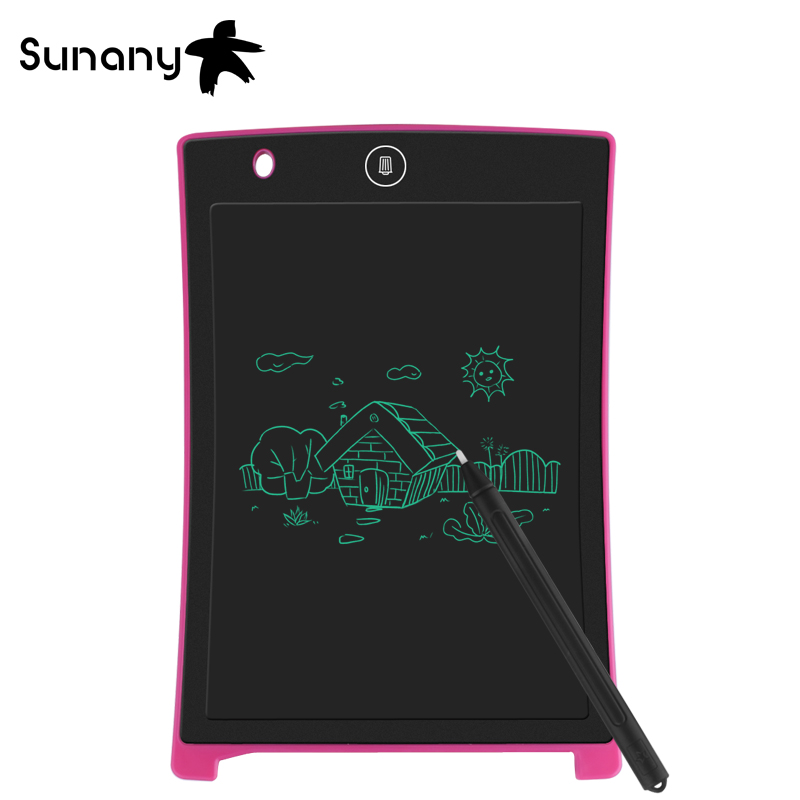 Digital Tablets Sunany Lcd Schreiben Tablet 8,5 zoll Elektronische Zeichnung Schreibtafel Handschrift Pads Ultra-dünne Board Mit Stift Löschen Taste Jade Weiß