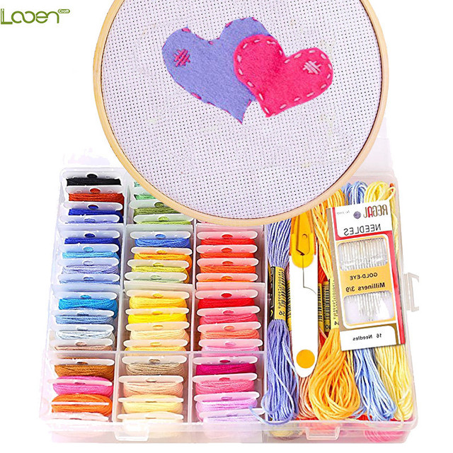 Looen Embroidery Floss Kit 50 Colors Friendship Bracelets Floss Diy
