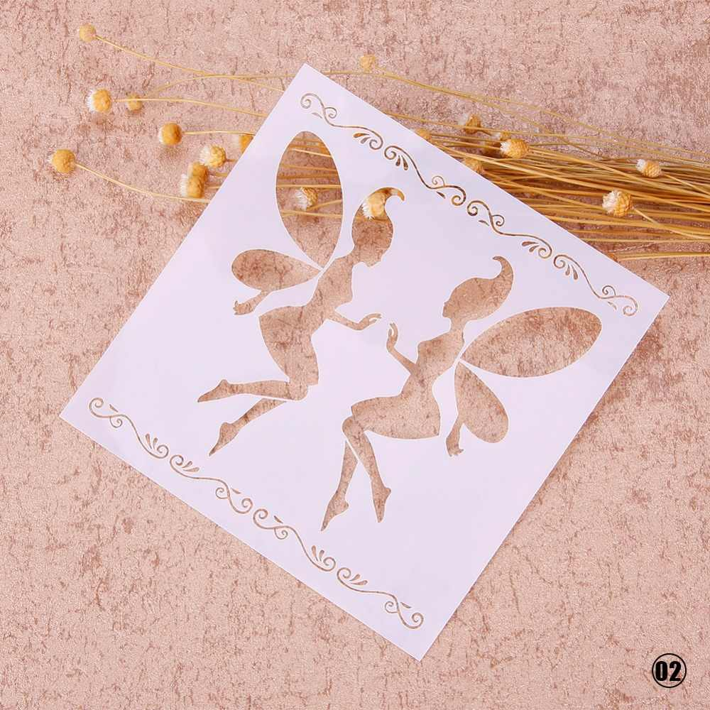 In Ấn thời trang Vẽ Airbrush Tranh Stencil DIY Craft Scrapbooking Album Decor Hollow Sơn Phun Template #248525