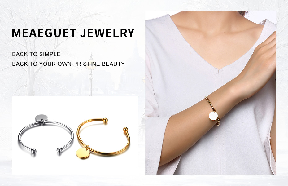 Meaeguet Laser Engrave Charm ID Bangle Personalized Name Bracelet For Women Customized Stainless Steel Bangle Jewelry For Gift (2)