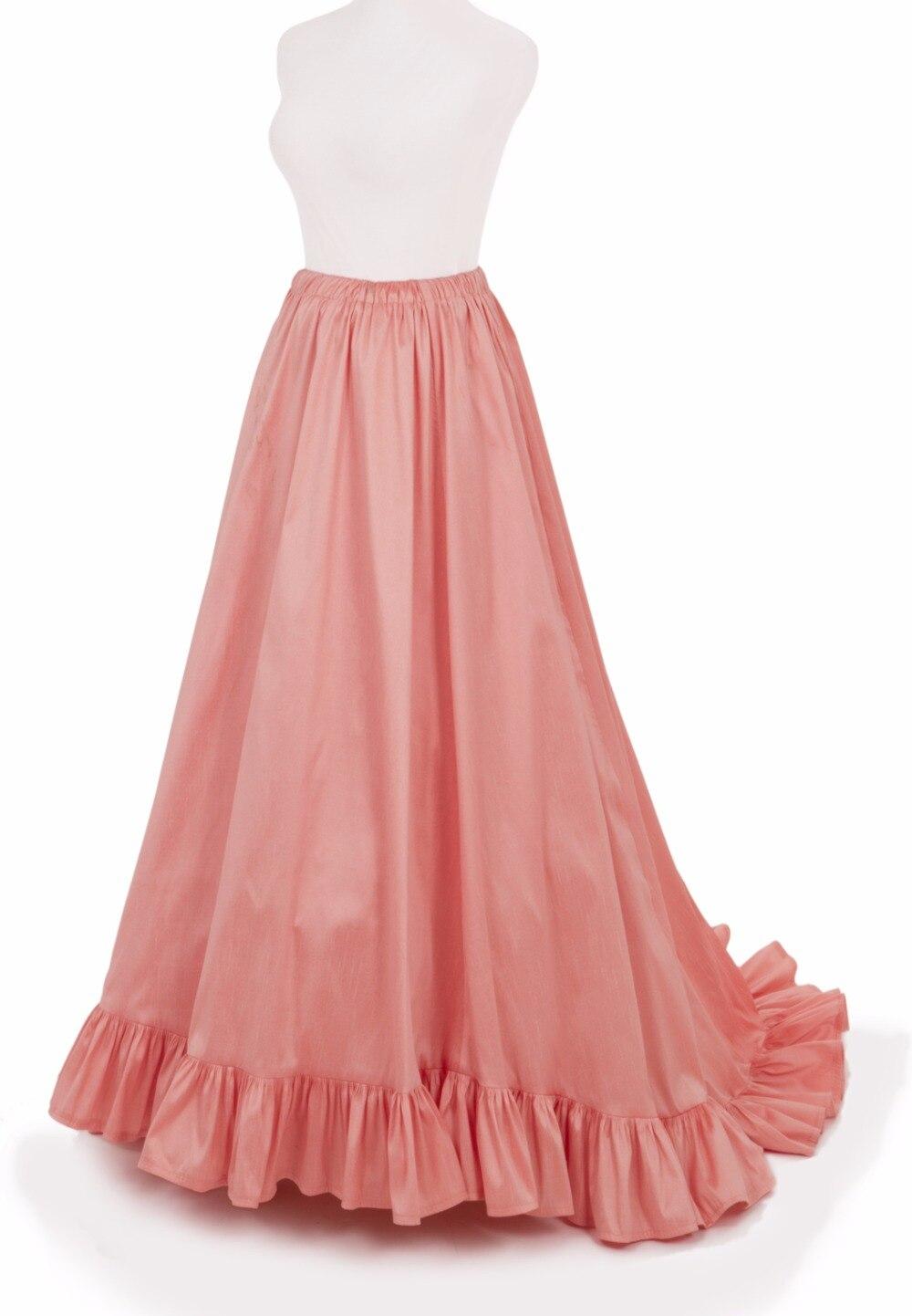 Викторианская суета юбка викторианская французская плиссированная сборная суета розовая юбка - 2