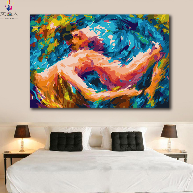 Diy Paintings Coloring Pictures By Numbers On Canvas Kandinsky Abstract Tango Dance Artwork Handmade For Hoom Decor