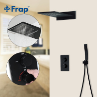 Frap Shower Faucets black bathroom shower set faucet thermostatic mixer tap for bath shower mixer faucet tap shower panel Y23513