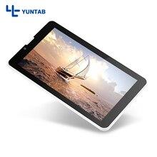Nueva llegada! YUNTAB E706 Android5.1 tablet PC IPS screen1024 * 600 de apoyo 3G/2G Desbloqueado teléfono de Cuádruple Núcleo Dual cámara (negro/blanco)