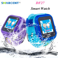 DF27 Waterproof Children GPS Swim Phone Smart Watch Baby Watch SOS Call Location Device Tracker Kids