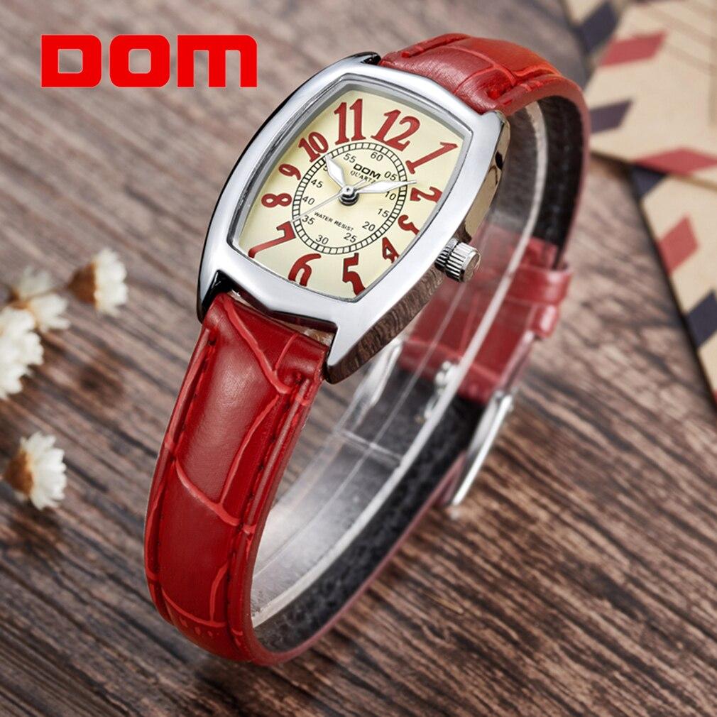 DOM Waterproof Sport Watch Quartz Women Wrist watches Vintage Stylish Design Elegant Exclusively Style Luxury relogio feminino 1 ami exclusively for yoox com толстовка
