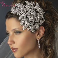 New Elegant Luxurious Wedding Bride Crown Women High Quality Hair Hoop Rhinestone Trees Shape Originality Bridal