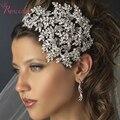 Nuevo Elegante de Lujo De La Novia de La Corona de Las Mujeres de Alta Calidad Aro Del Pelo Rhinestone Forma Trees Originalidad Nupcial Hairband RE218