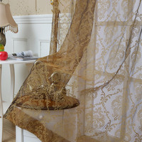 Curtain velvet Fashion quality embroidered tulle curtains luxury window voile organza lace Best cheap quality sheet the curtain