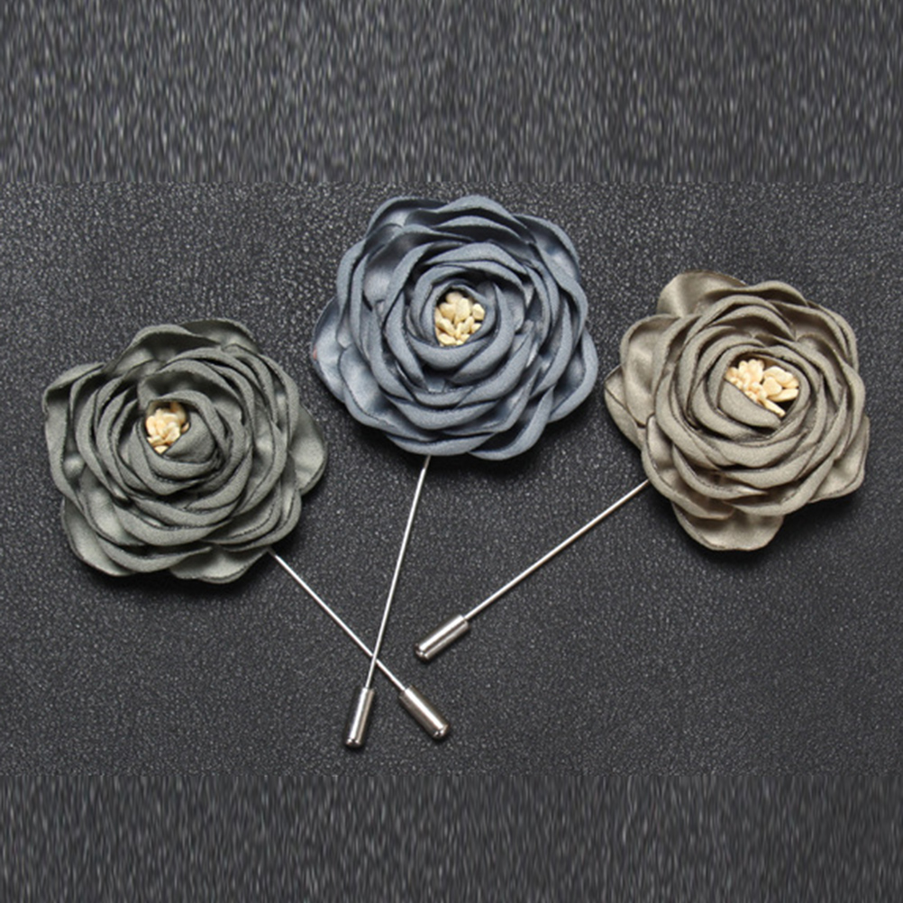 Brooches Wedding Jewelry 1Pc Boutonniere Men/'s Brooch Handmade Pin Flower