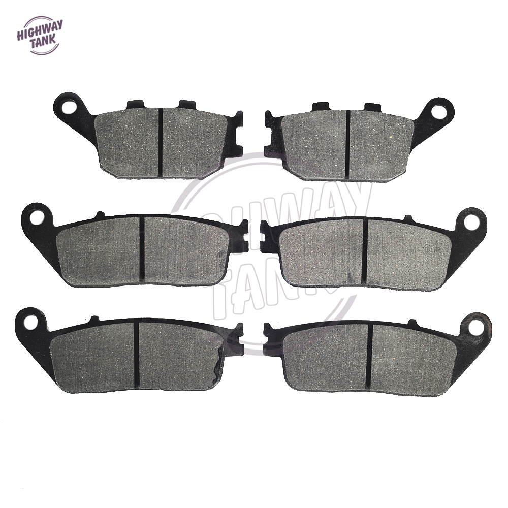 6 Pcs High quality Semi-Metallic Motorcycle Front Rear <font><b>Disc</b></font> <font><b>Brake</b></font> Pads case for <font><b>KAWASAKI</b></font> 750 750S <font><b>Z750</b></font> Z750S 2007 image