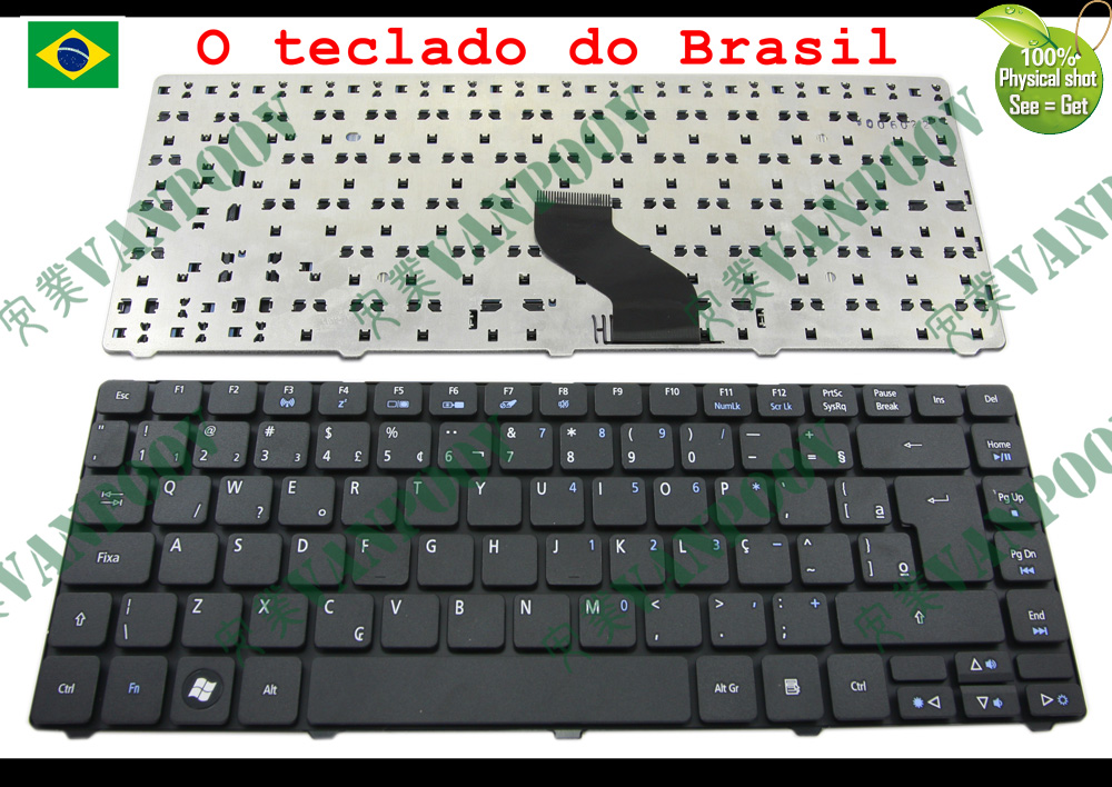 BLACK US KEYBOARD for ACER ASPIRE 4820T SERIES laptop