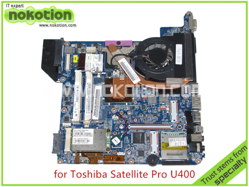 NOKOTION A000029810 for toshiba satellite U400 laptop motherboard GM45 DDR2 without graphics slot стоимость