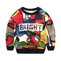 Spring Autumn Children Clothing Girls Boys Multicolour Sweatshirt Kids Pullover Hoodie Toddler Casual Top 2-5 Age Baby Clothing