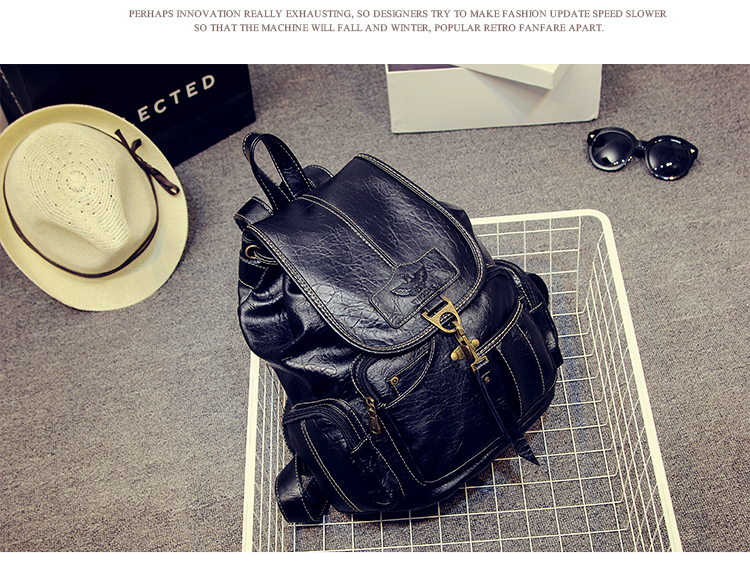 HTB1nzRFyL1TBuNjy0Fjq6yjyXXaQ High Quality Women Backpack Vintage Backpacks For Teenage Girls Fashion Large School Bags PU Leather Black Mochila Feminina