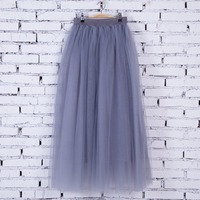 FOLOBE 7 Colors Faldas Korean Style 100cm Long Swing Maxi Skirts Womens Autumn Jupe High Waist