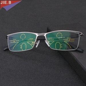 Image 2 - Gafas de sol de transición Multifocal progresiva para hombre, gafas de lectura fotocromáticas de puntos para lector, visión de lejos, novedad de 2019