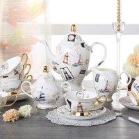 15 Pcs Fashion Ceramic Quality Coffee Afternoon Tea Cup Bone Chinar Tea Set 1 Teapot 1