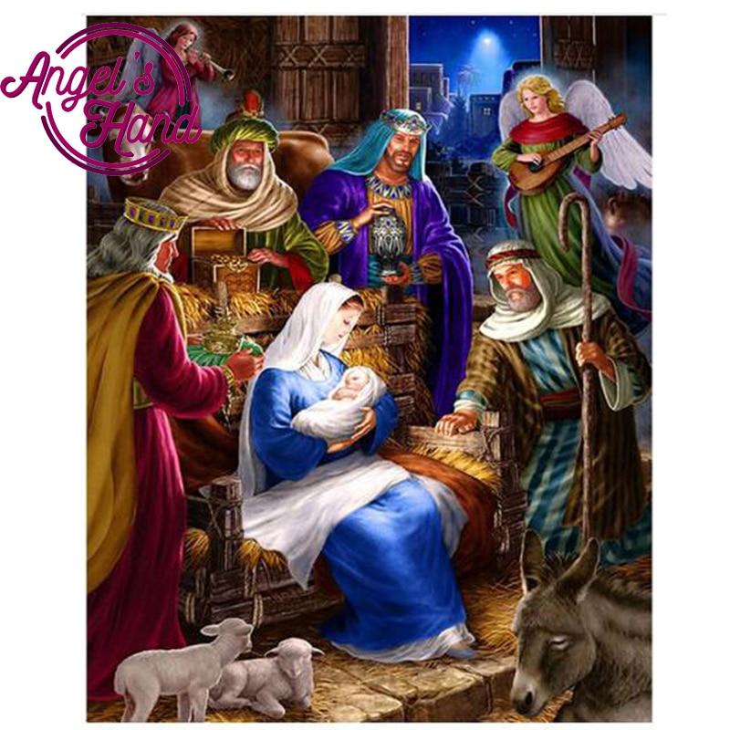 Diy Diamond Paintings Jesus Christ Birth Christmas Diamond Pattern ...