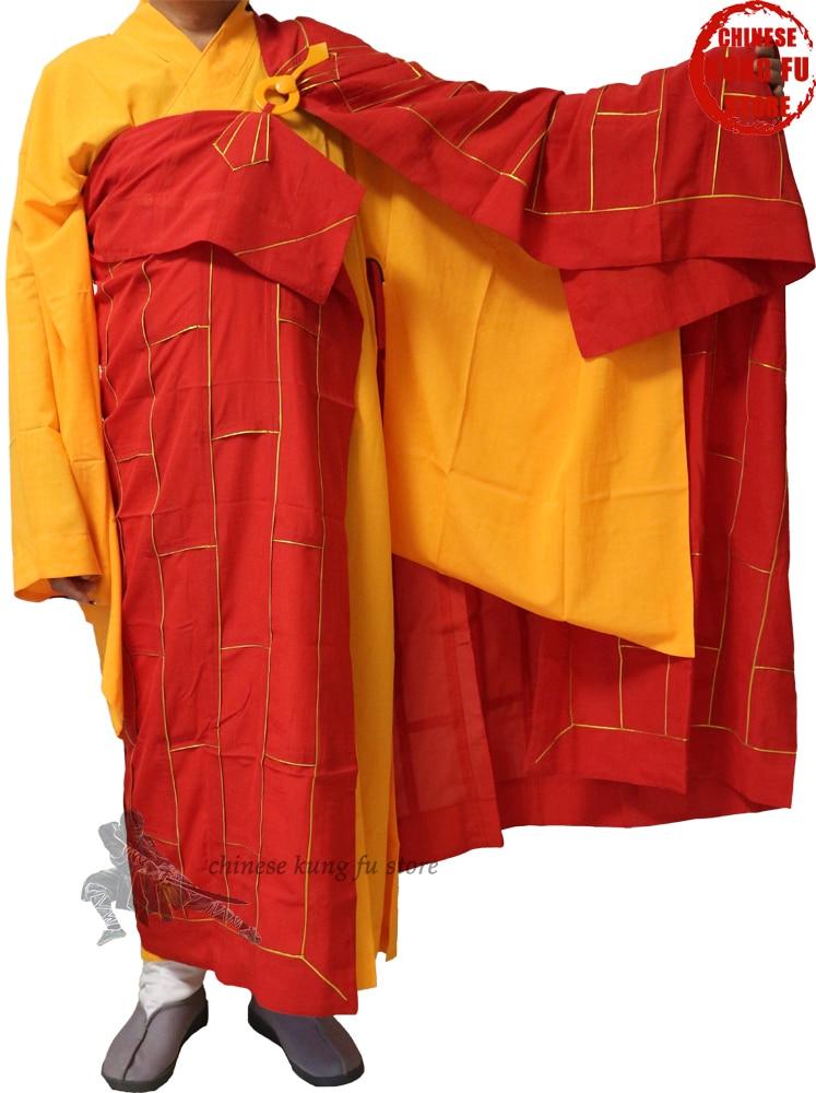 Top Quality Buddhist Monk Dress Zuyi Kesa Robes With Inside Haiqing Meditation Uniform Shaolin Kung Fu Suit