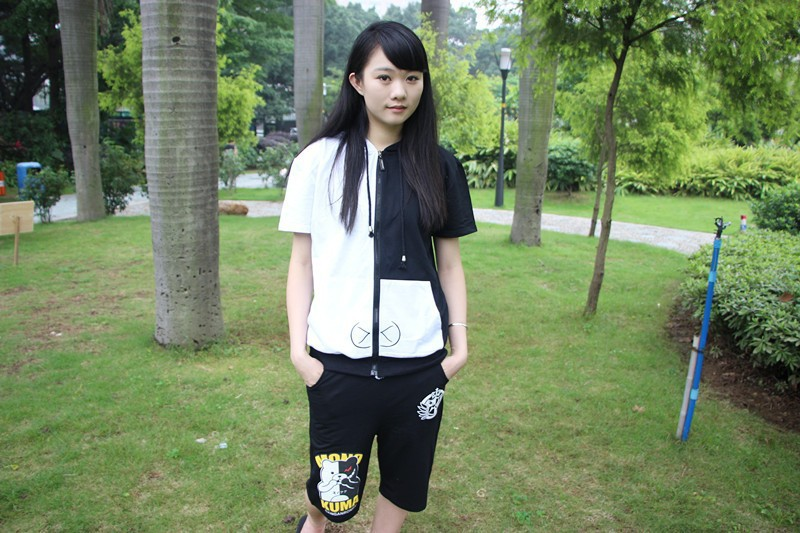 New Adults Summer Hoodie Sets Dangan Ronpa Unisex Wear 2pcs/set Hoodie Set For Sale