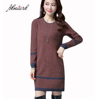 2017 Autumn And Winter New Women S Jacket Sweater Women S Long Section Knitted Bottoming Shirt