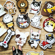1 PCS Free Shipping Brooch Cartoon Animal Acrylic Badges Backpack Accessories Badge Decoration Brooches