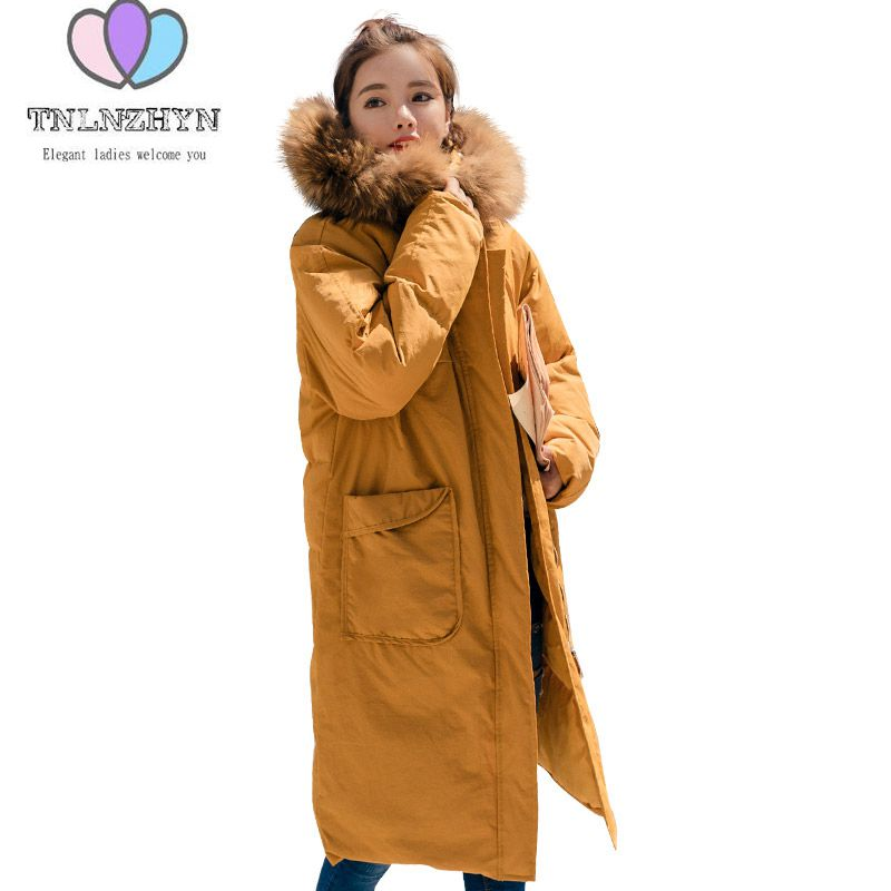 2017 Winter Feather Cotton Clothing Hooded Jackets Loose Thicken Large size Warm Long Jacket Coats Nagymaros collar Lady Parkas 2017 winter feather cotton clothing hooded jackets loose thicken large size warm long jacket coats nagymaros collar lady parkas
