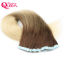 Dreaming Queen Hair Tape In Remy Hair Extensions T3/613 Blonde Color 100% Brazilian Straight Human Hair 50g 20pcs/Set Skin Weft