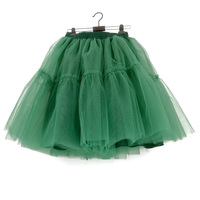 Womens Midi Tulle Skirt 6 Layers Skirts American Apparel Tutu Skirts Women Green Ball Gown Party