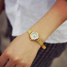 Мода Досуг Стиль Для женщин часы маленький кожаный ремешок стол кварцевые часы женские часы Аналоговые Повседневное девушек Наручные часы