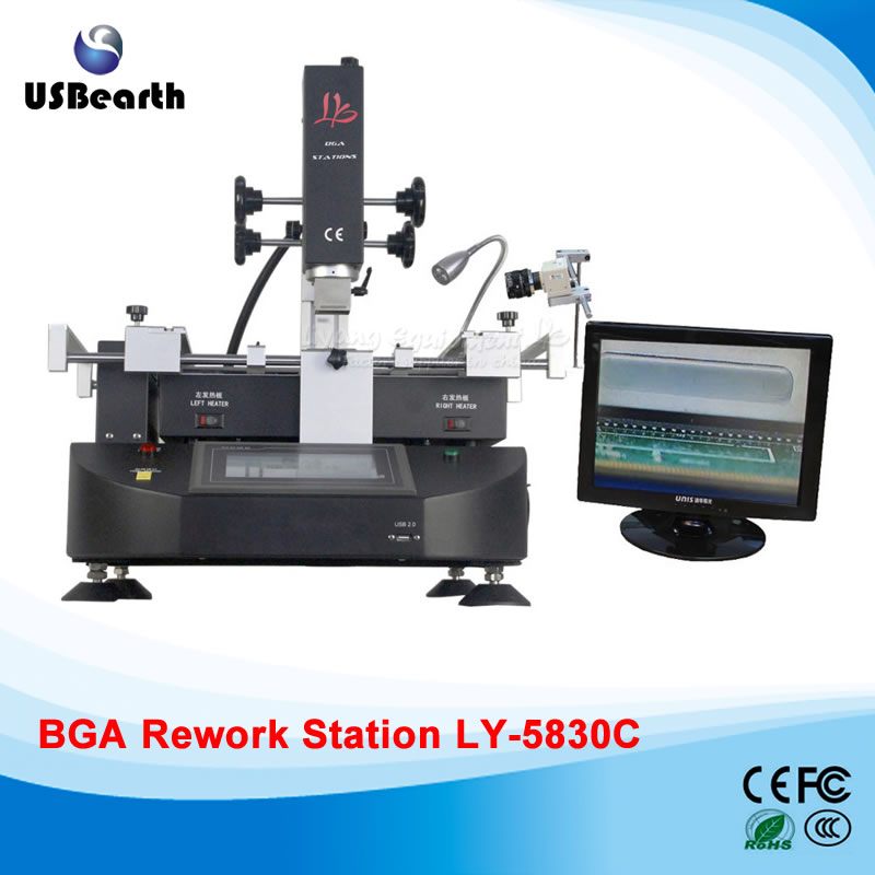 LY-5830C touch screen BGA Rework Station Soldering machine hot air 3 zones for Laptop Motherboard Chip Repair,free tax to EU