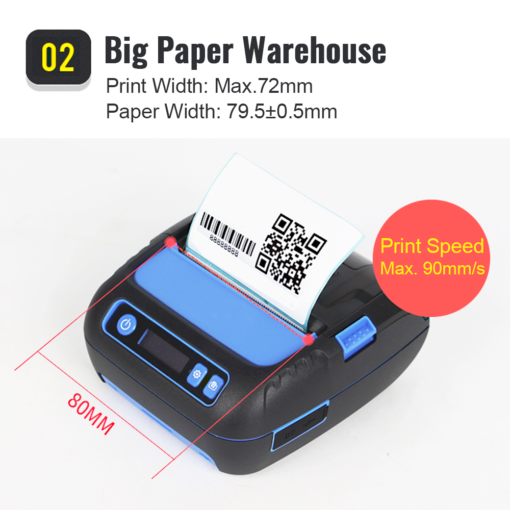 HOT SALE] POS 80mm Mobile Portable Thermal Receipt Bill