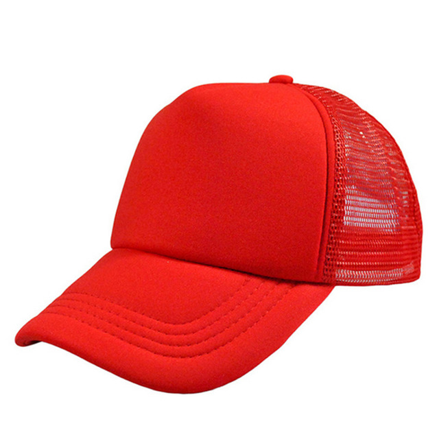 2cf86bbf9a8 DIY Plain Color Blank Hand Drawing Adjustable Baseball Caps Solid Trucker  Mesh Back Blank Curved Visor Fishing Shading Sun Hats