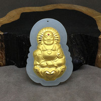 1PC/Natural yellow dragon stone carving lizard pendant hang a necklace hanging string jewelry box