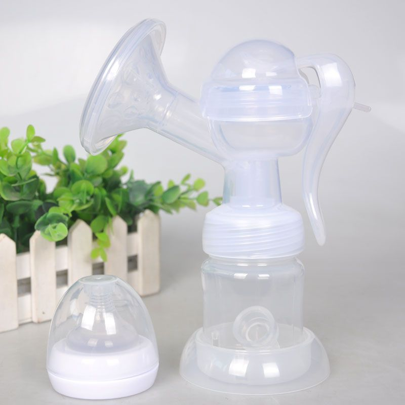 Manual Breast Pumps High Quanlity PP Hands Breastfeeding Nursing Pump Free With Milk Bottle Nipple Suction Set