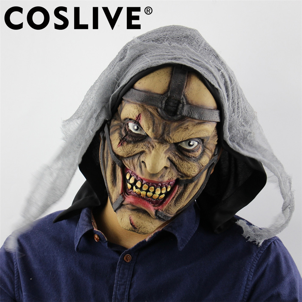 Coslive Christmas Clearance Cheap Latex Mask Adult Cosplay Costume Props Scary Horror Wizard Pimp Strange Ghost Face Masks