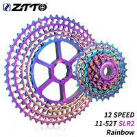 Ztto 12 velocidade arco íris cassete 11 52 t slr2 12s mtb 12 velocidade ultraleve k7 12 v 413g bicicleta de montanha roda livre para hg hub|Catraca de bicicleta| |  -