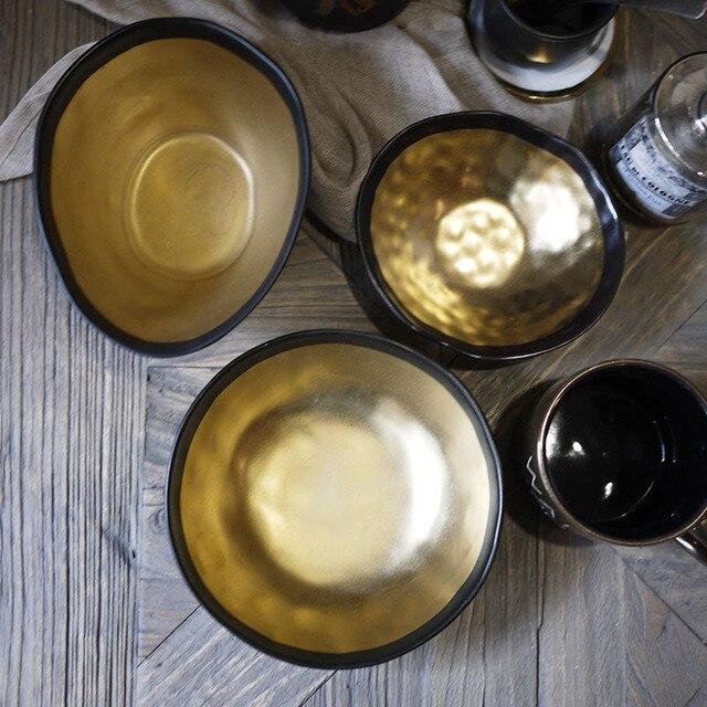 Позолота ручной пресс пластин блюда для еды тарелку кухни фрукты лоток матовая поверхность