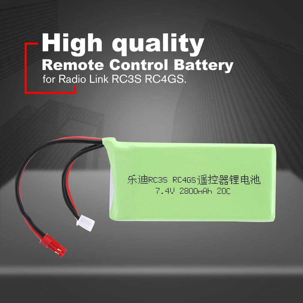 <font><b>7.4V</b></font> <font><b>2800mAh</b></font> 20C Rechargeable Remote Control <font><b>Battery</b></font> Transmitter <font><b>Battery</b></font> for Radio Link RC3S RC4GS RC Models Parts image