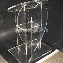 В форме сердца акриловый церковный пюпитр церковный из оргстекла, церковная из органического стекла Подиум