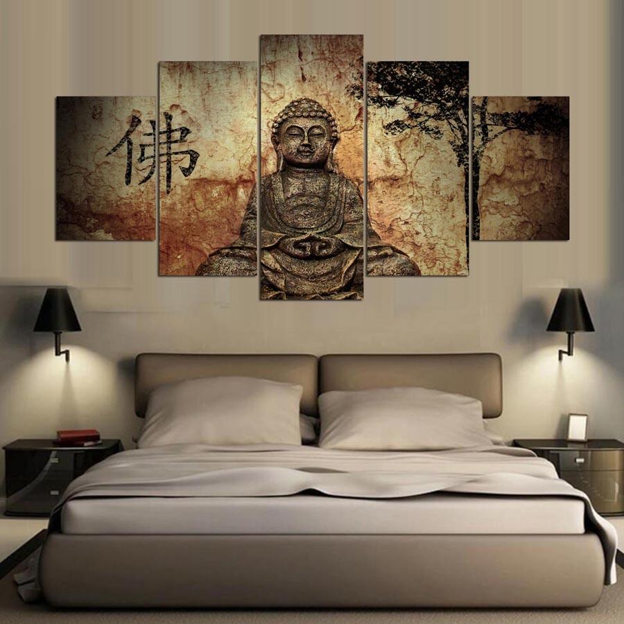 panel zen buda casa moderna decoracin de la pared pintura del arte de la lona