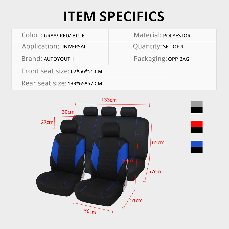 Partol-BLACK-Gauze-2pcs-pack-Universal-Fit-Car-Windows-Side-Curtains-with-Holes-Automobile-Front-Rear