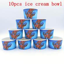 10PCS/Lot Spider Man Birthday Party Decoration Kids Disposable Ice Cream Cup Baby Shower Souvenirs Event Party Supplies Favor(China)