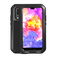 For Huawei P20 Case Waterproof Shockproof Metal Heavy Duty Protective Phone Armor For Huawei P20 Pro