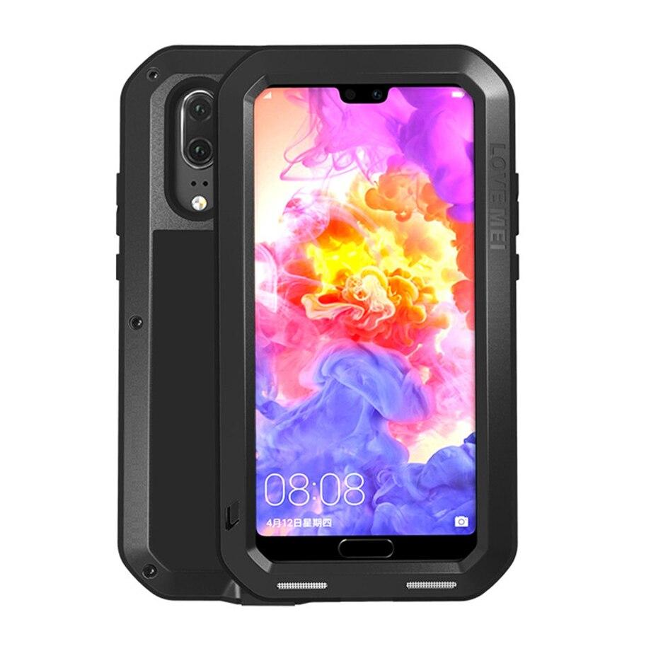 Caso Armadura de Metal Para Huawei P20 Pro Lite P20Lite P20Pro P20 Pro Caso À Prova de Choque Robusto Full Body Capa Huawei Huawei p20 LitE P