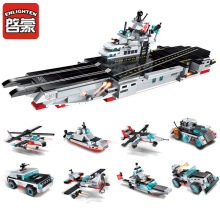 Enlighten 8 in 1 Military Army Warship Model Legoes Building Blocks Aircraft Destroyer Carrier Bricks Toys For Children Gifts